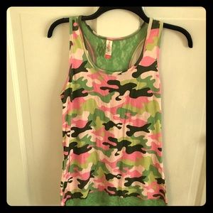 EUC No Boundaries Camo Racerback Tank